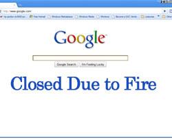 Google Fire Shuts Down Data Centers