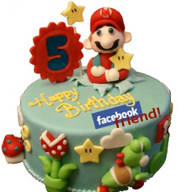 Your Facebook Birthday Cake