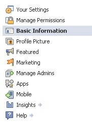 New Facebook Page Settings