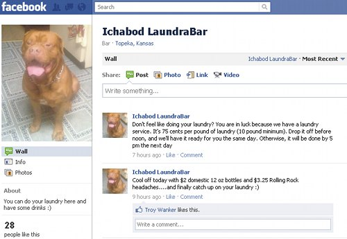 Ichabod LaundraBar Wants to Wash Your Clothes ... Woof!
