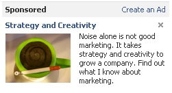 Strategy and Creativity Facebook Ad