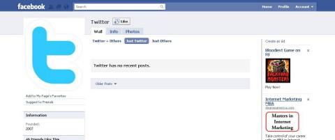 Twitter on Facebook